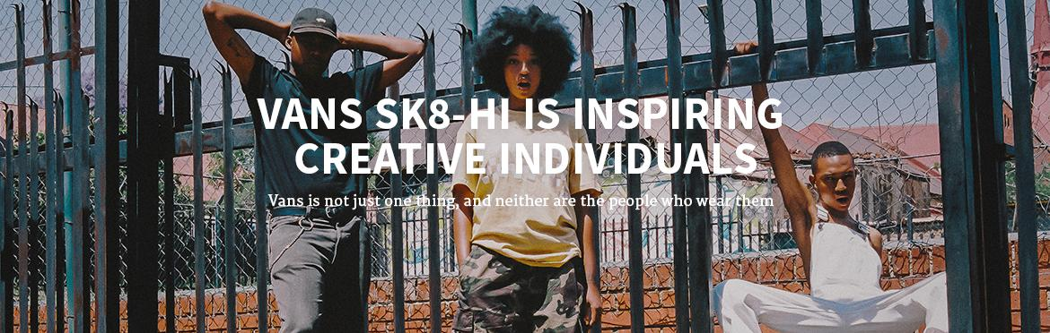 Vans Sk8-Hi is inspiring creative individuals