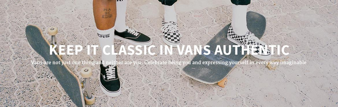 Keep it Classic in Vans Authentic