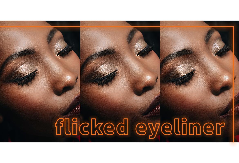 flicked eyeliner
