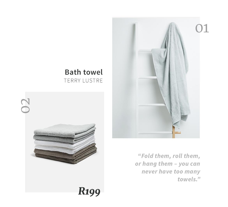 Superbalist bathroom towels
