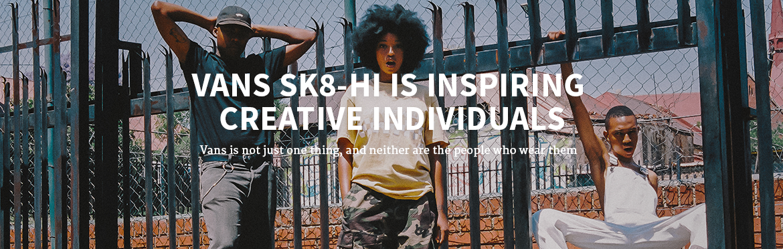 Vans Sk8-Hi is inspiring creative individuals