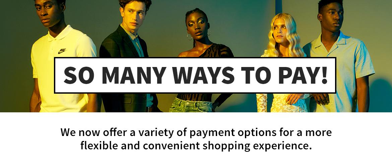 so many ways to pay