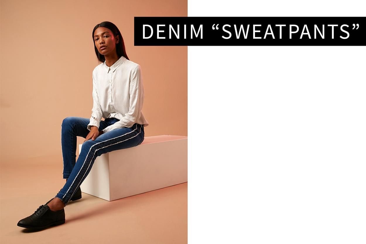 "Denim ""sweatpants"""