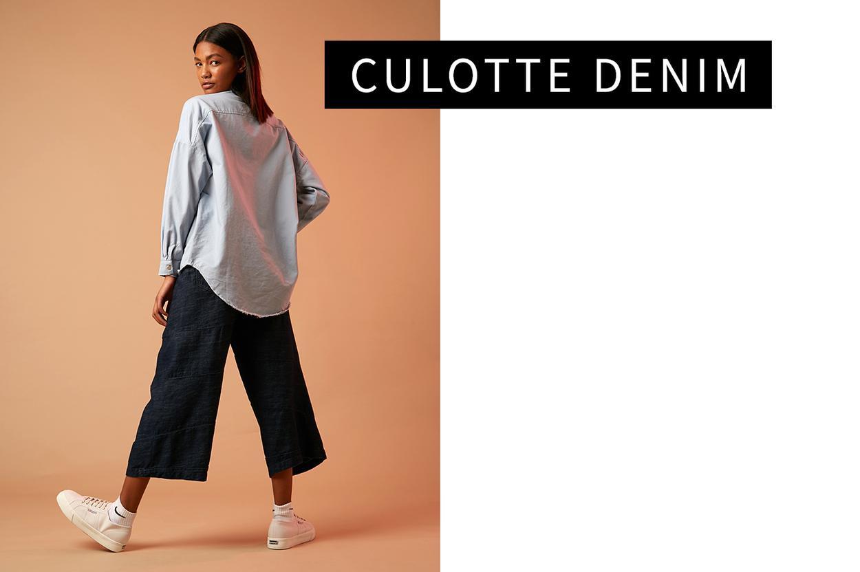 Culotte denim