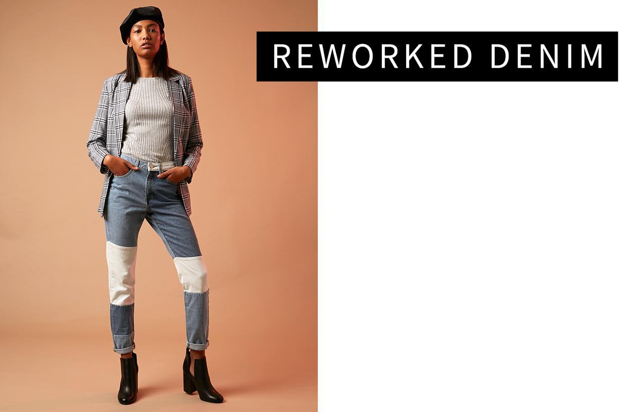 Reworked/ patchwork denim