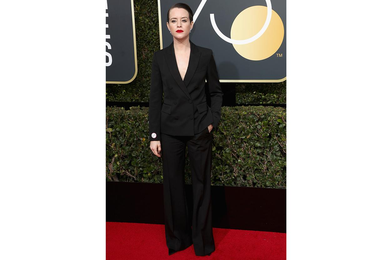 Claire Foy in Stella McCartney at the Golden Globes