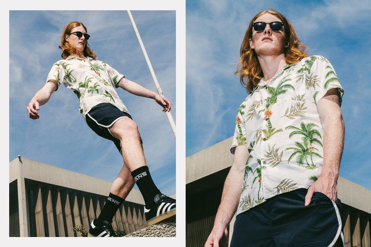 Short sleeve tropical shirt