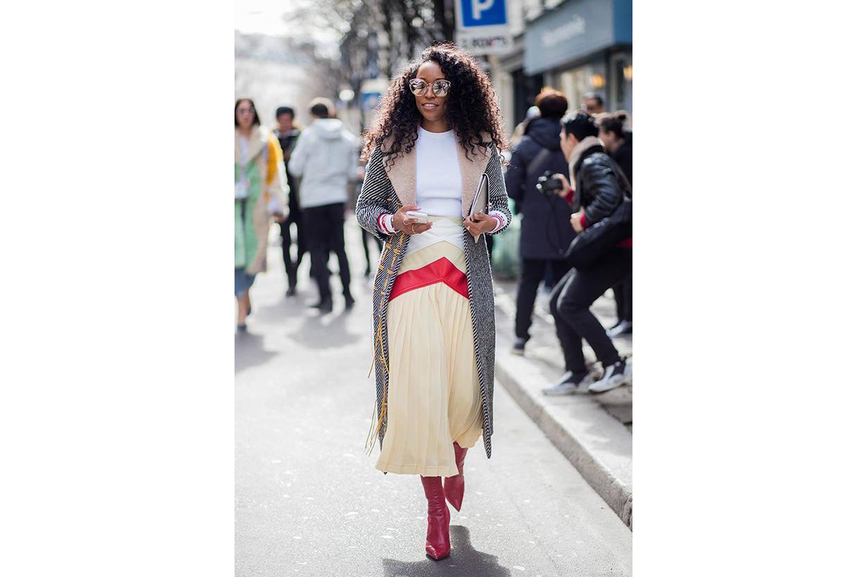 skirt and blazer