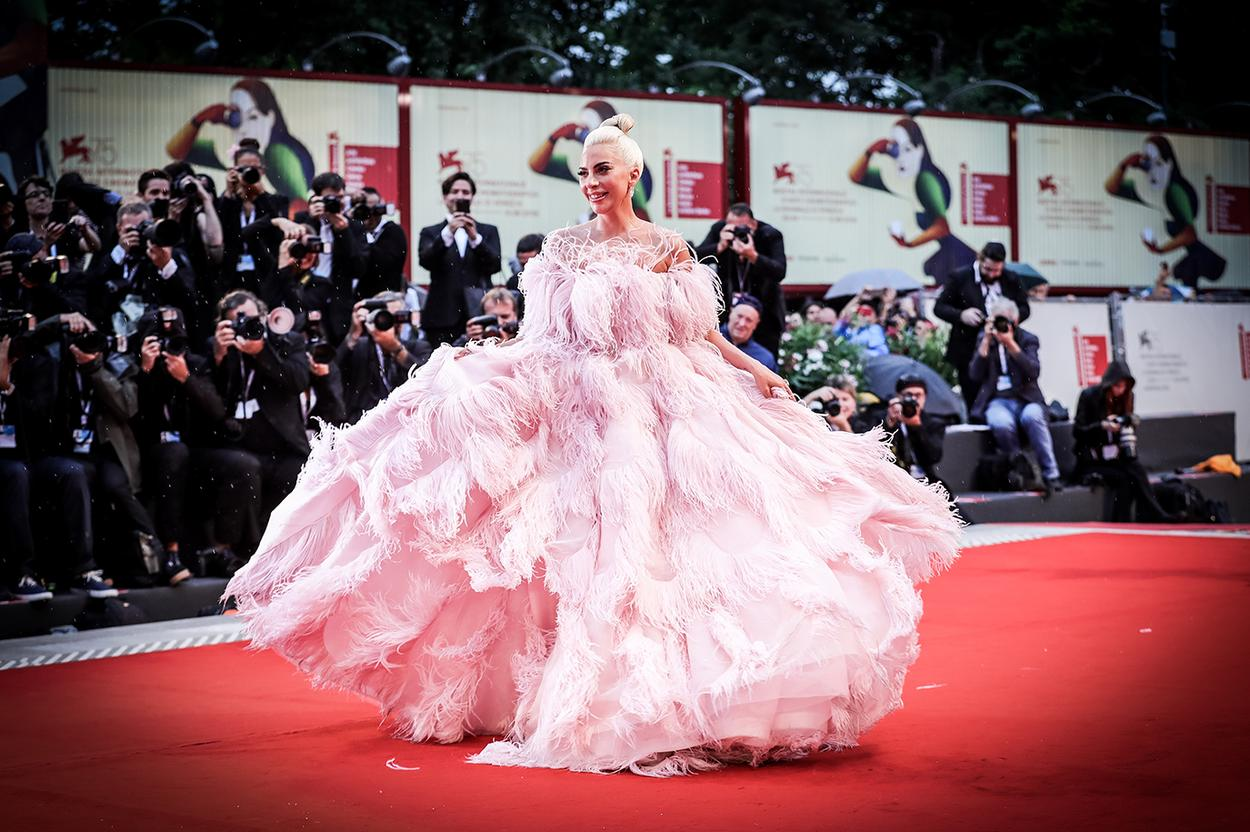 Lady Gaga in Valentino Haute Couture at the Venice Film Festival