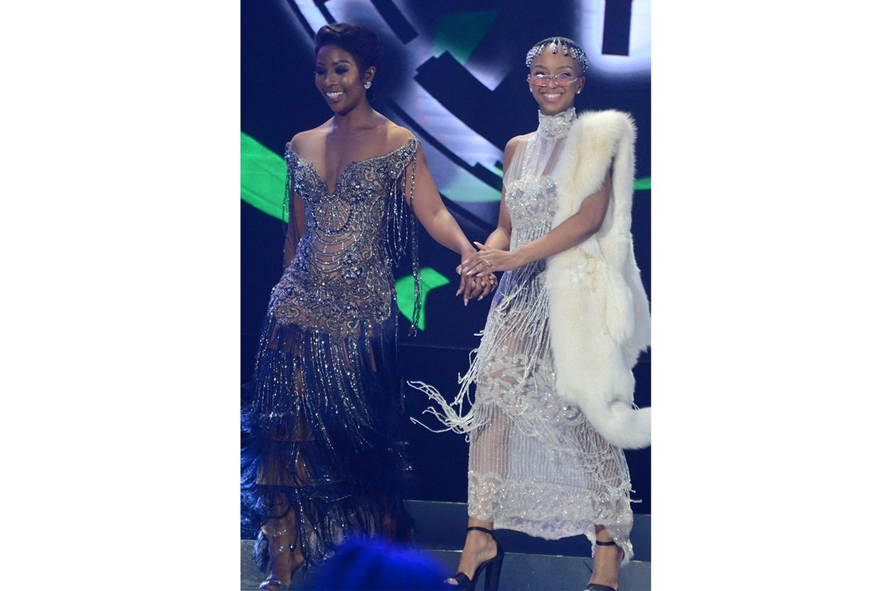Nandi Madida in Ryan Keys at the SAMAs, 2 June
