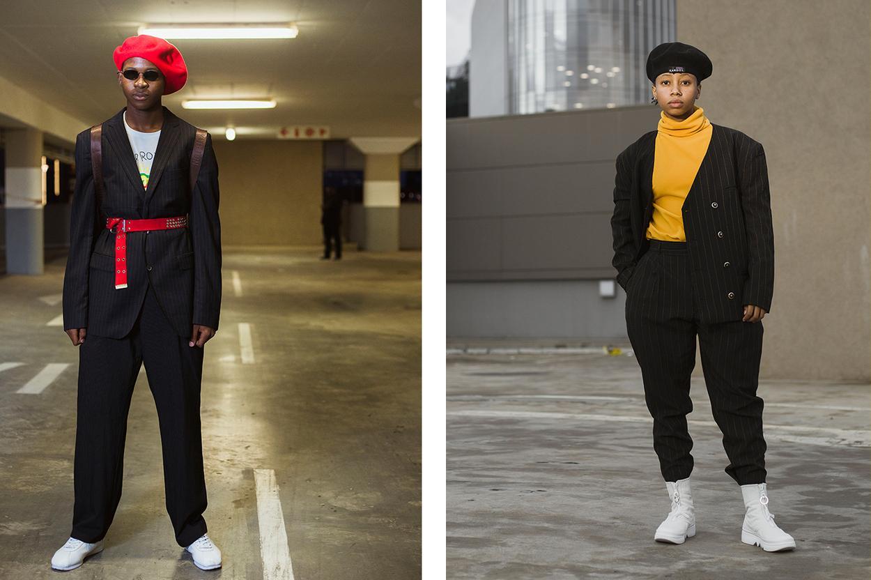 Suit and beret SAFW