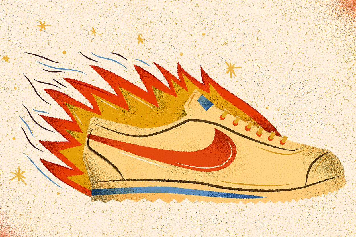 nikes on fire