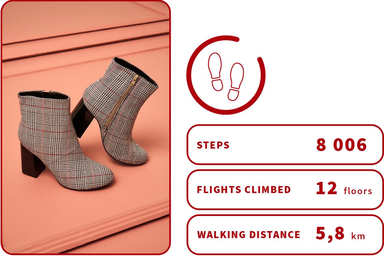 check block heel boots