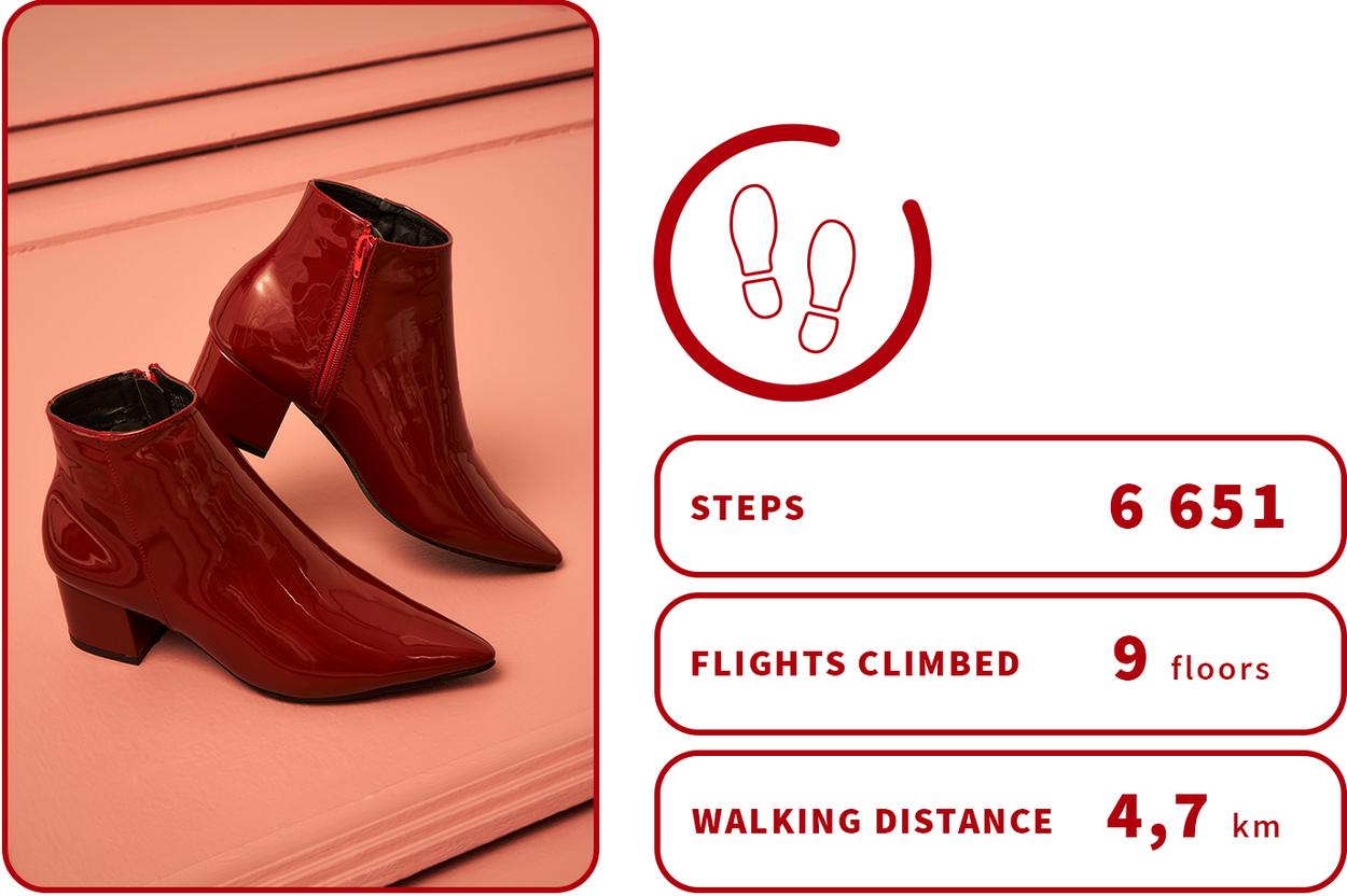 red block heel boots