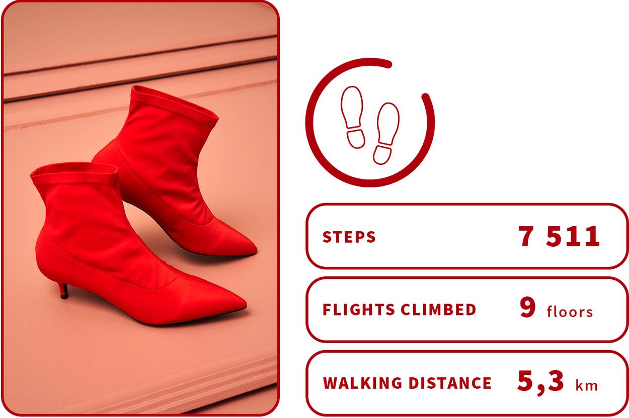 red kitten heel boots