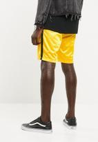 Superbalist - Tricot side stripe short - yellow & black