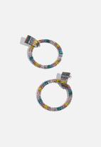Superbalist - Embellished hoop earrings - multi