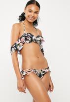 Sissy Boy - Floral side tie frill bikini bottom - multi