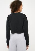Missguided - Los Angeles sweat top - black