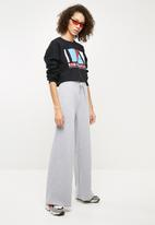 Missguided - Paperbag waist loopback joggers - grey