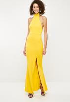 Missguided - Choker neck maxi dress - yellow