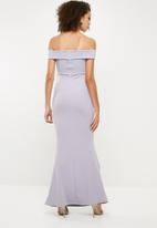 Missguided - Scuba bardot v plunge maxi dress - grey