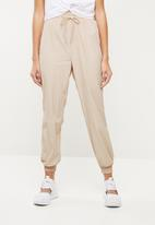Missguided - Shell suit trouser - beige
