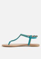 bfcdc623717ff Abienna flat sandal -teal Call It Spring Sandals   Flip Flops ...