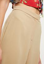 Missguided - Premium core wide leg trouser - beige