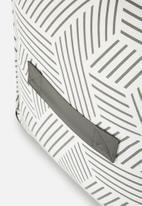 Sixth Floor - Hatch ottoman - grey & white