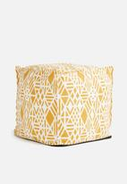 Sixth Floor - Saffron ottoman - yellow