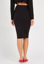 Supré  - Double layer midi skirt - black