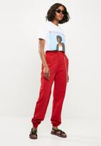Missguided - Chain detail cargo trouser - red