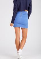 Supré  - The fray edge panel skirt - blue