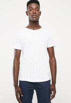 S.P.C.C. - Rotary print tee - white
