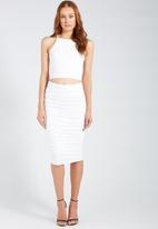 Supré  - Luxe strappy square neck crop - white