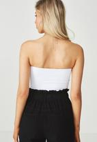 Supré  - Luxe strapless crop - white