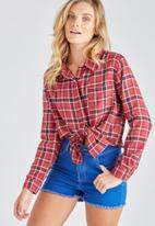 Supré  - Check shirt - red