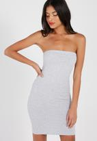 Supré  - Boobtube dress - grey