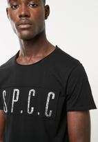 S.P.C.C. - High density logo tee - black