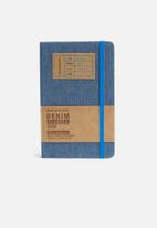 Moleskine - 2019 A5 hardcover daily diary - denim