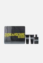Zadig & Voltaire - Z&V This Is Him Be Rock Edt 50ml & 2 X 50ml Shower Gel (Parallel Import)