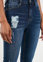 Missguided - Sinner clean distressed skinny - blue
