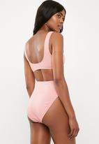 Missguided - Rib high leg brief mix and match - pink