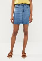 Missguided - Superstretch denim mini skirt - blue