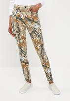Missguided - Sinner high waisted camo skinny - brown