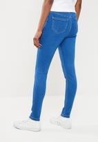 Missguided - Vice high waist skinny - blue