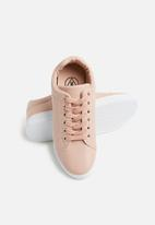 Missguided - Solid colour lace up trainer - pink