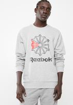 Reebok Classic - Big starcrest crew top - grey