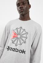 Reebok - Big starcrest crew top - grey